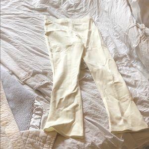 White legging like Zara flared pants!